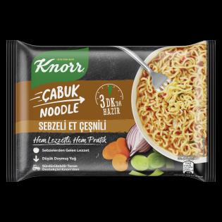 PNG - KNORR Çabuk Noodle Sebze Et Çeşnili 66 GR